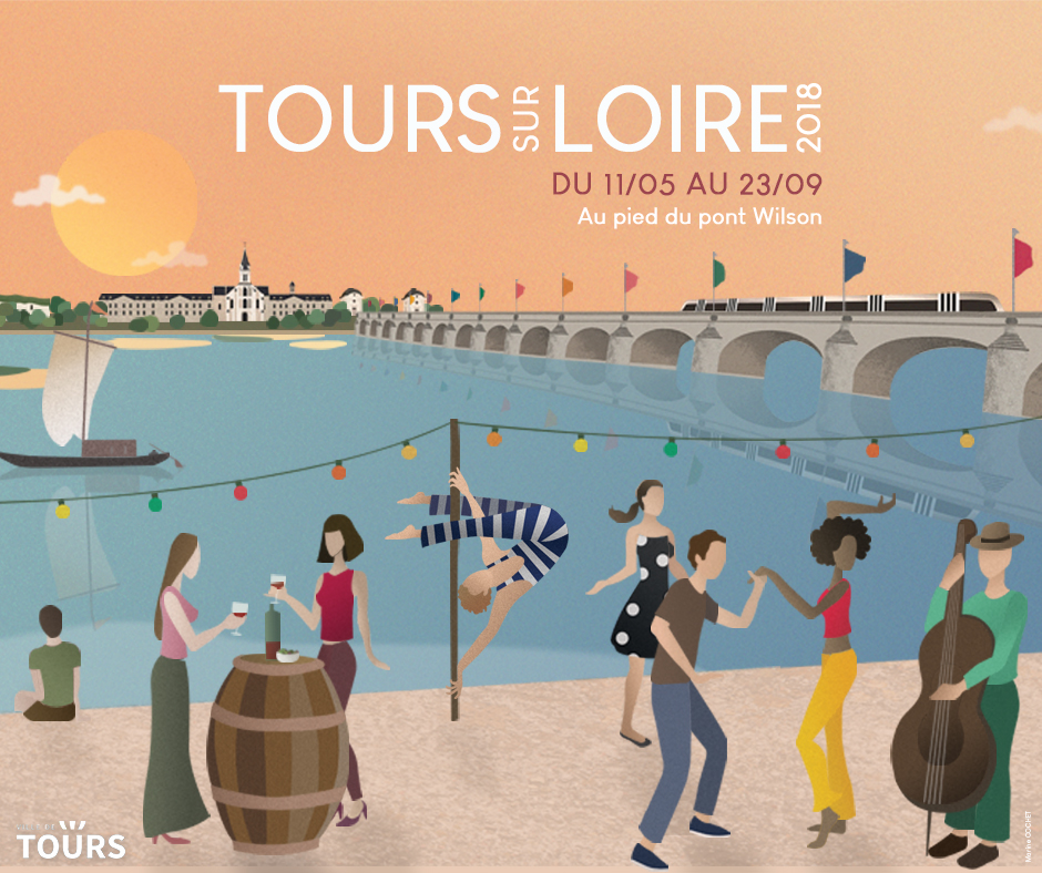 Tours on the river Loire - poster 2018